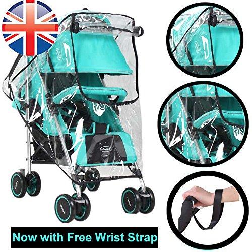 Universal Baby Kinderwagen Regenschutz wasserdicht Regenschirm Kinderwagen Wind Staub Shield Cover für Kinderwagen von Platinium