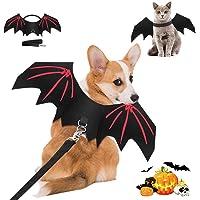 Tianxiong Halloween Kostüm für Hunde und Katze, Haustier Kostüm für Fledermausflügel, Flügel Kostüm für Halloween Party