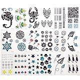 #2: Magideal 30x Waterproof Cartoon Temporary Body Tattoos Stickers for Children Set L