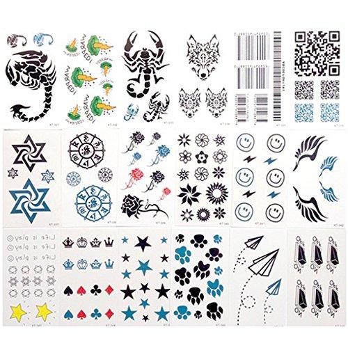 30x-pegatinas-tatuajes-de-dibujos-animados-impermeable-del-cuerpo-temporal-para-ninos-fijado-4-