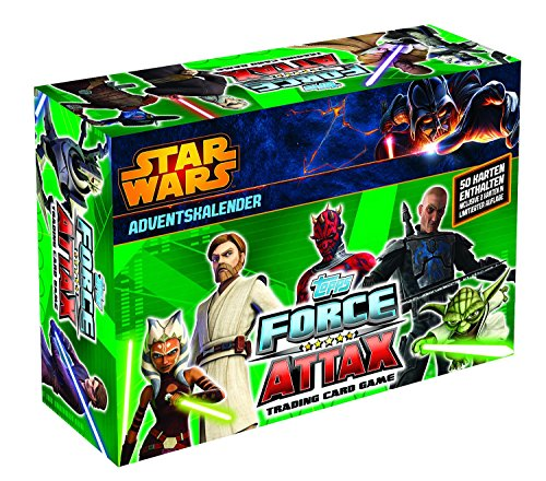 Topps TO00782 - Clone Wars - Force Attax Serie 5 Trading Card Adventskalender