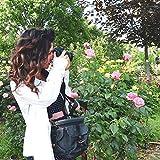 Evecase Custodia Fondina Piccola Resistente Acqua in Canvas da Trasporto con Cinghia per Nikon macchine fotografiche reflex, Colore: Nero