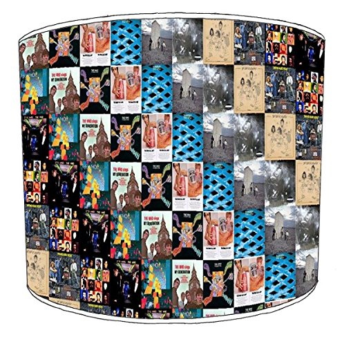30,5cm Tabelle square collage blue lamp shades