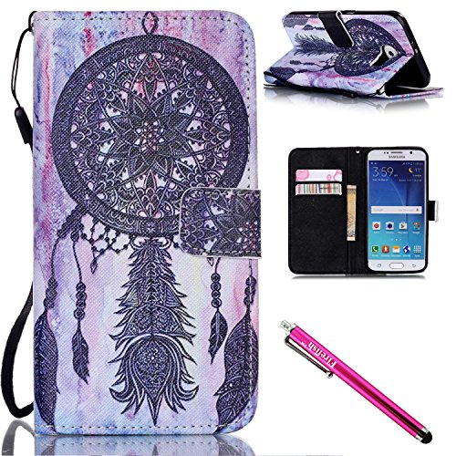 coque-galaxy-s6-firefish-kickstand-shock-proof-double-etui-de-protection-flip-folio-slim-couverture-