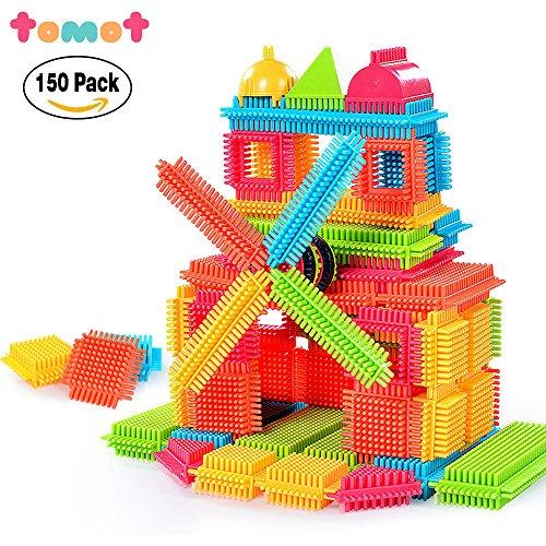 TOMOT 150pcs originalität ihrer erbauer blöcke spielen mit aufbewahrungsbox für kleinkinder kind mädchen jungen kinder (Nicht Mit Der Box) (Flugzeug-blöcke)