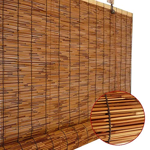 GaoLP Bambusrollo - Rollo, SchilfVorhang,Roman Vorhang Reed Material, Sonnenschutz/UV-Schutz, 20x32 / 24x28 / 28x71in (Tür-fenster-vorhang-24 X 36)