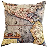 covers World map Cushions Covers Decorative Cushions For Cafeteria Library Bookcase 3
