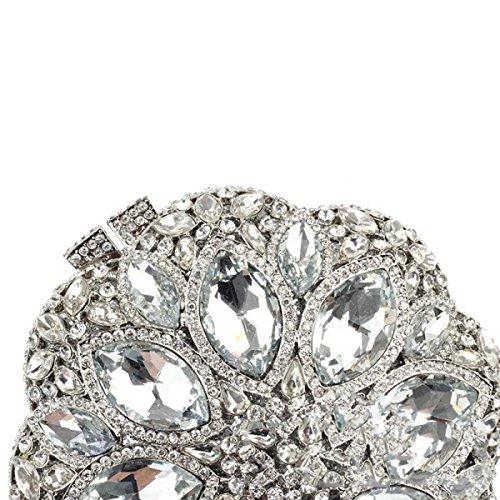 Lady Cristallo Della Frizione Di Diamante Borsetta Borsa Da Sera White