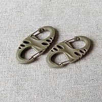 OneTigris–10pezzi s-biners Grimloc Mini moschettone multifunzione