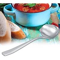 Cuillère à sauce en acier inoxydable avec bec verseur cuillère à sucre outil de cuisine ustensile