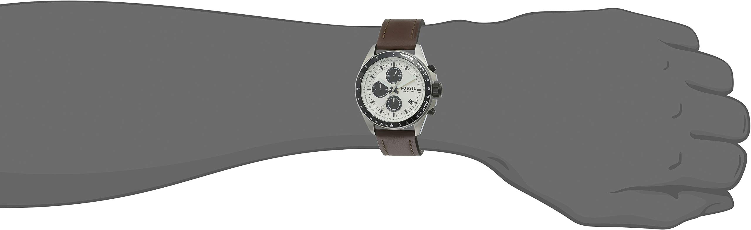 Fossil Chronograph Silver Dial Men's Watch – CH2882