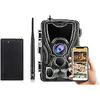 YTLJJ APP 4G Caméra de Chasse avec Service Cloud, Infrarouge Invisible 16MP 1080P Trail Caméra GSM MMS, Sécurité No Glow…