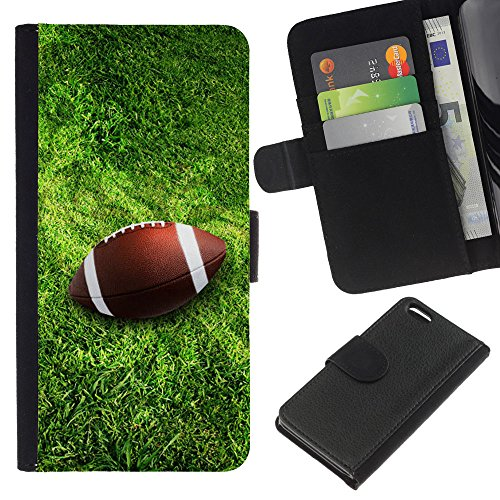 Graphic4You Amerikaner Fußball Football Sport Design Brieftasche Leder Hülle Case Schutzhülle für Apple iPhone 5C Design #3