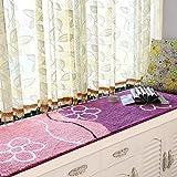 SGDSTGGDFH Simple Modern plüsch Float Fenster Matt fensterbank-Pad Tatami Schlafzimmer Balkon Mat erker-Decke-J 60x180cm(24x71inch)
