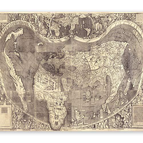 murando Papier peint intissé 350x256 cm Décoration Murale XXL Poster Tableaux Muraux Tapisserie Photo Trompe l'oeil Carte du Monde Amerigo Vespucci k-B-0047-a-a