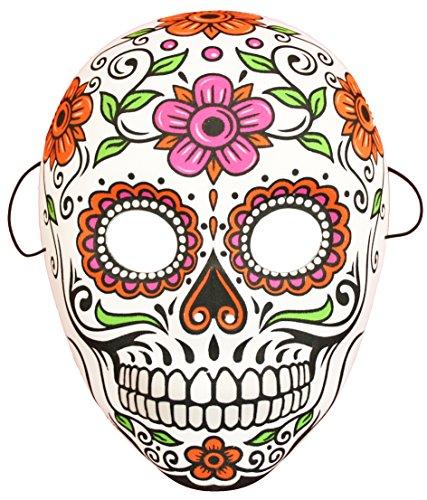 Halloween Maske in bunt | Größe ca. 18x25 cm | Los Muertos Maske