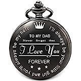 Levonta regali unici per regali di compleanno nonno pensionamento regali personalizzati orologio da tasca con catena To My Da