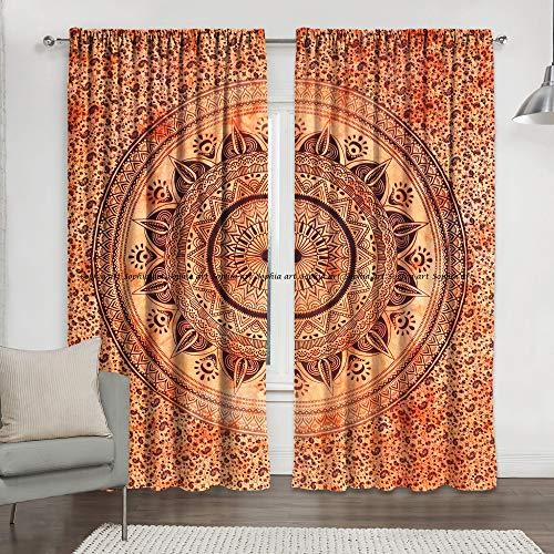 Sophia-Art - Cortina India Color Naranja