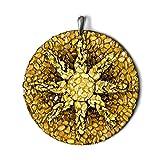 Sol - Ámbar báltico pagano Amuleto hecho a mano Amuleto espiritual