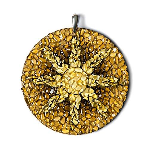 El anillo de los Cielos. Báltico ámbar hecho a mano encanto amuleto
