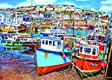 Gibsons Mevagissey Harbour Jigsaw Puzzle, 500XL piece