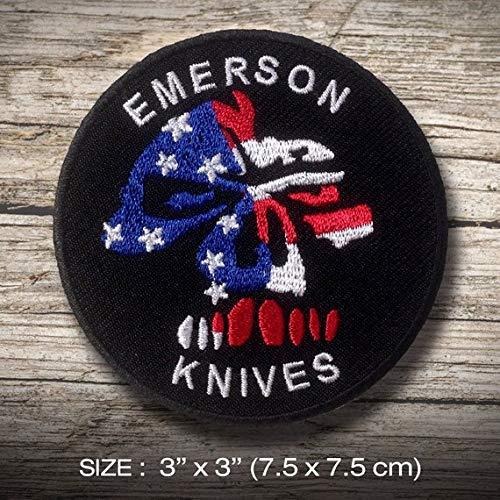 Emerson Zubehör (LipaLipaNa Emerson Knives Sports Adventure Aufnäher Besticktes Patch zum Aufbügeln Applique Souvenir Zubehör)