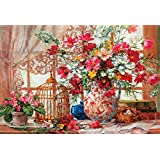 1000 piece jigsaw puzzle Cosmos & Queen Anne's lace world micro micro piece (26x38cm)