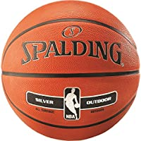 Junior Spalding Silver Nba Outdoor Playing Game Basketball Official Ball Size 5