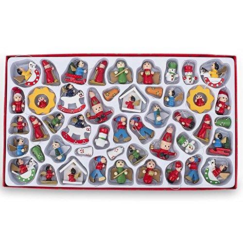 aus, Schneemann, Engel Miniatur Holz Weihnachtsschmuck (Holz-schneemänner)