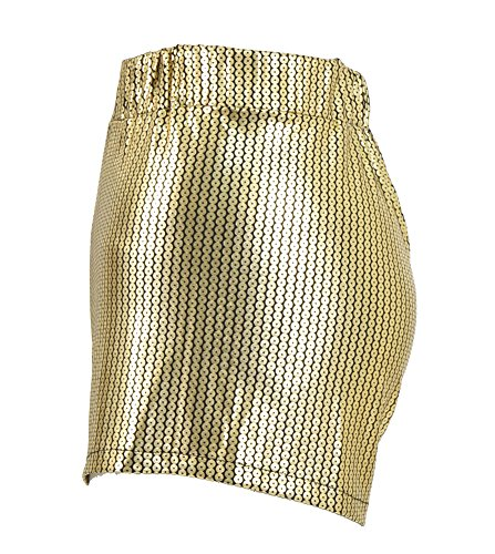 Tiny Time Damen Sequin Shine Glitter Shorts Paillette verschönert Party Kurze Hose A