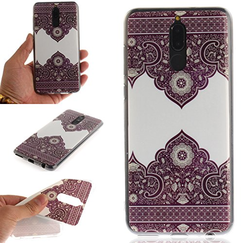 Ooboom® Huawei Mate 10 Lite Hülle TPU Silikon Gel Ultra Dünn Schutzhülle Handy Tasche Case Cover für Huawei Mate 10 Lite - Retro Blume