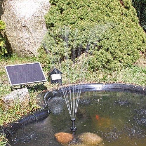CLGarden Solar Teichpumpe mit Akku - 3