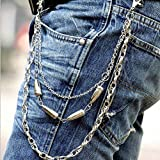 Punk Pants Trousers Bullet Key Chain Stud Motorcyle Jean Gothic Rock Male Wallet Keychains