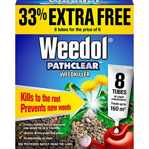 Weedol Pathclear Weedkiller Liquid Concentrate ( 6 + 2 tube free) (8 Tubes)