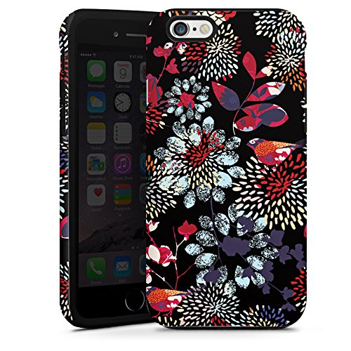 Apple iPhone 5s Housse étui coque protection Fleurs Fleurs Multicolore sombre Cas Tough terne
