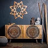 Native Home Sideboard asiatisch, Muster, modern, massiv, mit Türen, Mangoholz, Kommode, HxBxT 85 x 160 x 45 cm, Natur
