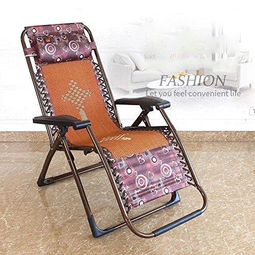 Chaises longues-Chaises longues-- Lit pliant simple Chaise pliante Balcon Chaises longues Chaise de plage de bureau Chaise femme enceinte Pique-nique d'après-midi (Couleur facultative) --Applicable à l'intérieur et à l'extérieur ( Couleur : A )