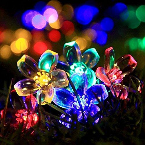 budbuddy 20er LED Solar Globe Garten Lichterkette Außen Kristall 6 Meter, Solar Kugel Beleuchtung für Party, Outdoor, Fest Deko usw. [Energieklasse A+++] (bunt)