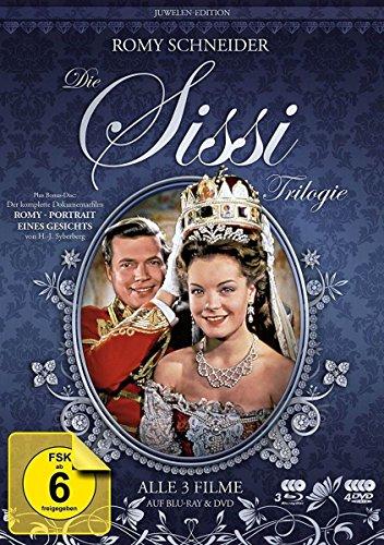 """Sissi Trilogie - Juwelen-Edition + Dokumentarfilm """"Romy Schneider - Portrait eines Gesichts"""" [3 DVDs + 3 Blu-rays + Doku-BD]"""