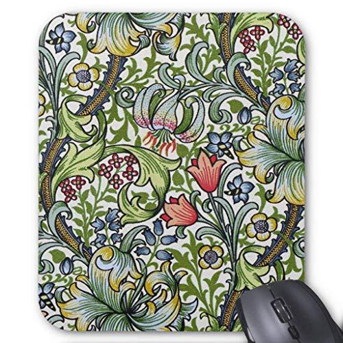 Floral Chintz (William Morris Golden Lily Floral Chintz Pattern Mouse Pad 18×22 cm)