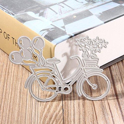 MASUNN Fahrrad Fahrrad Ballon Schneiden Dies Schablonen Für Diy Scrapbooking Karte Papier Handwerk