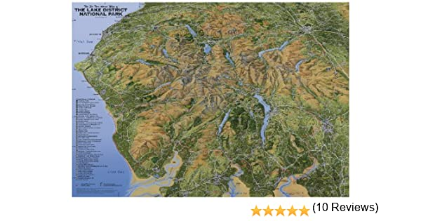 The Fir Tree Aerial Map of The Lake District National Park