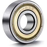 ANCIRS 20Pcs 608 ZZ Ball Bearings, 608zz Metal Double Shielded Miniature Deep Groove Skateboard Ball Bearings (8mm x 22mm x 7mm)