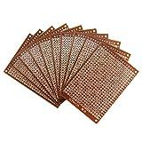 LEEN4YOU PCB Board DIY Prototype Paper PCB Matrix circuito stampato universale breadboard 5cm x 7cm (confezione da 10)