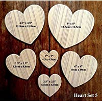 Fantastic Set Of 6 Different Sized Hand Crafted MDF
