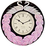 Elite Creation Divcme Crafts DCPHPM132 Wall Clock, Multicolor, 12X2X12 cm