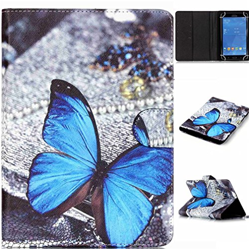 DETUOSI Lederhülle für Tablet 7 Zoll - Medion Lifetab PU Leder Folio Schutzhülle für MEDION LIFETAB P7331 (MD 99195) Tablet-PC (7 Zoll)