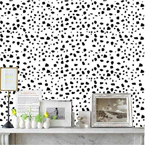 J Moderne einfache geometrische Grafiken wasserdicht selbstklebende Tapete Wandsticker Wandaufkleber SWP024 , black (Geprägte Grafiken)