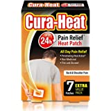 Cura Heat Back & Shoulder Pain, 1 Pack of 7 Patches