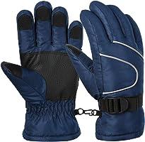 Vbiger Ski Handschuhe Skating Handschuhe Warm Winter Handschuhe Verdickt Kalt Wetter Handschuhe Beiläufig Outdoor Sports Handschuhe Winddicht Geeignet für Kinder,